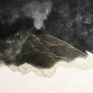 Абстрактная картина с линиями