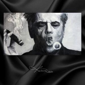 Джек Николсон / Jack Nicholson картина курящий сигару мужчина