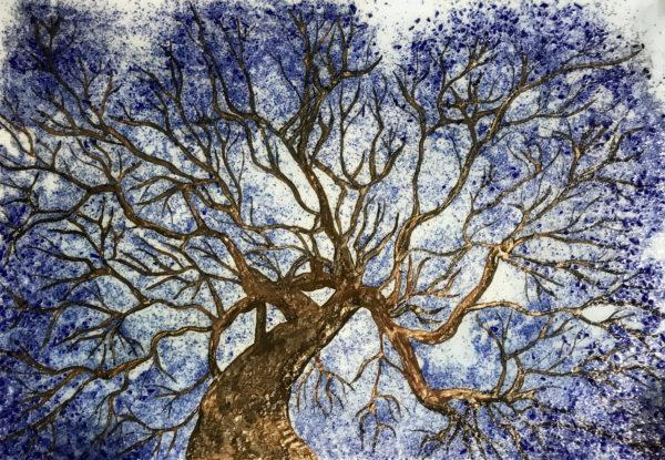 Интерьерная картина аквамариновое дерево Tree of dream