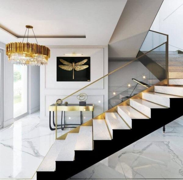 Luxury art стрекоза золотая картина купить в минске