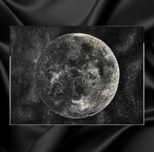 Пейзаж с луной. Картина лунный пейзаж. Картины луны. Картины с луной. Пейзажи луны. Пейзажи с луной. Луна.