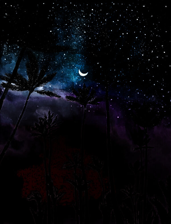 Флюоресцентная картина светящаяся в темноте