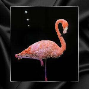 Ювелирная картина со стразами розовый Фламинго