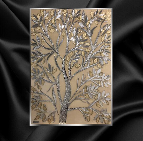 Картина из зеркала Золотое дерево / gold tree