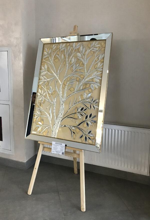Зеркальная картина золотое дерево