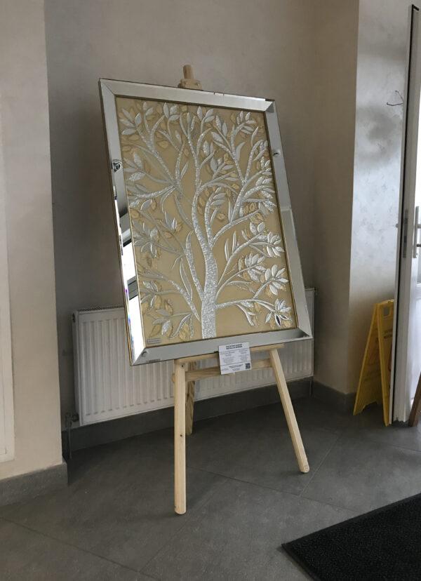 Картина из зеркал. Зеркальное золотое дерево
