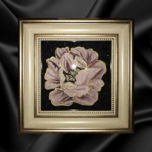Картина маслом на холсте Пион розовый