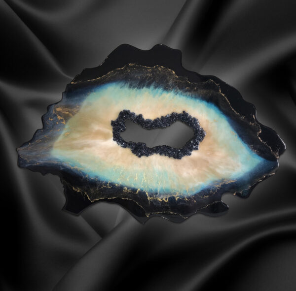 Абстрактная картина Срез бирюзового камня. Жеода