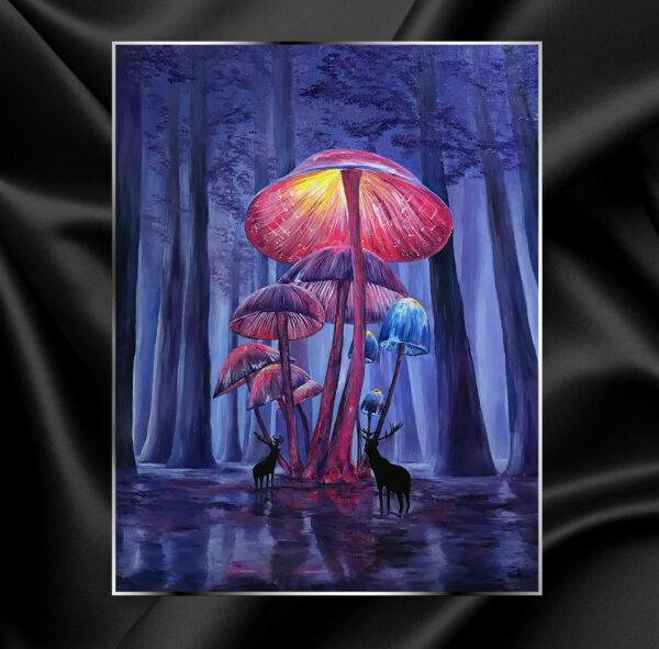 Галлюциногенные психогенные псилоцибиновые магические психоделические волшебные картина