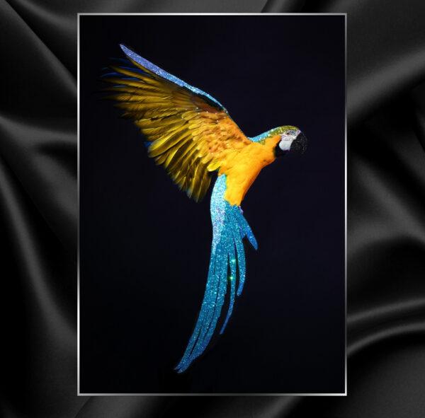 Картина премиум класса Попугай Swarovski купить