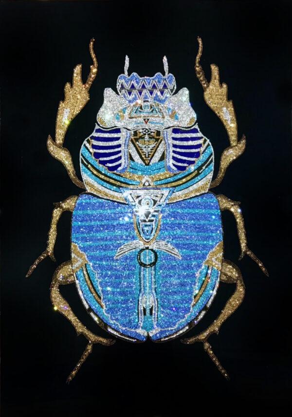 Картина жук скарабей из страз