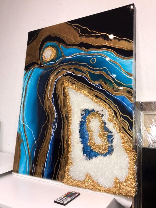 Картина Жеода Имитация среза камня 3D Crystals