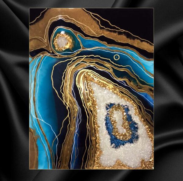 3D картина срез камня Жеода имитация среза камня