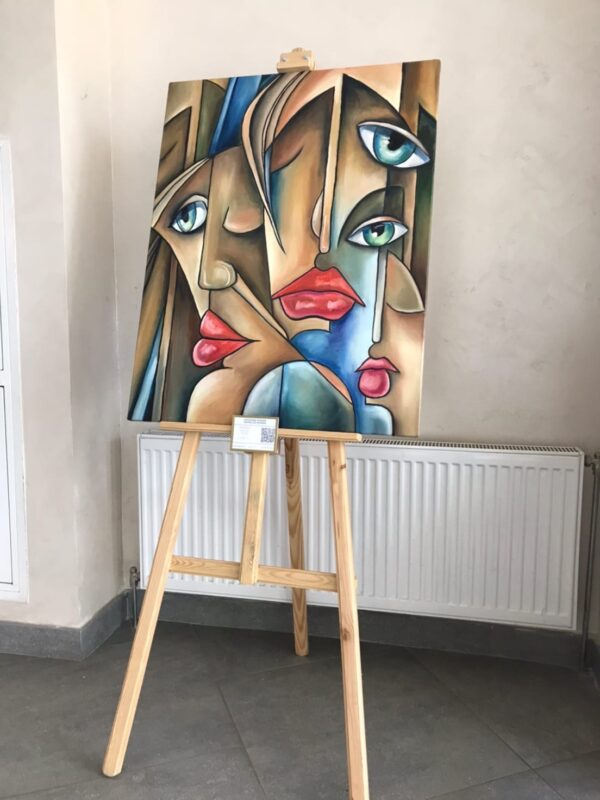 Картина двойные лица авангард авангардизм кубизм