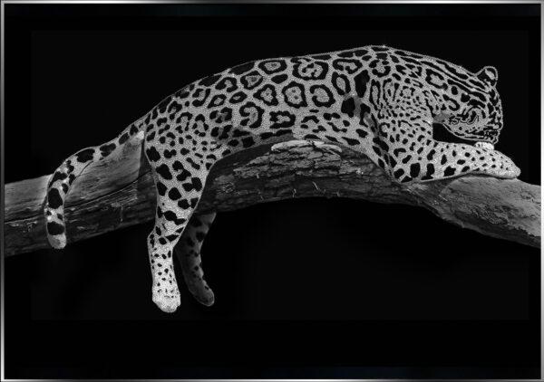 Картина леопард со стразами сваровски Michele Astolfi