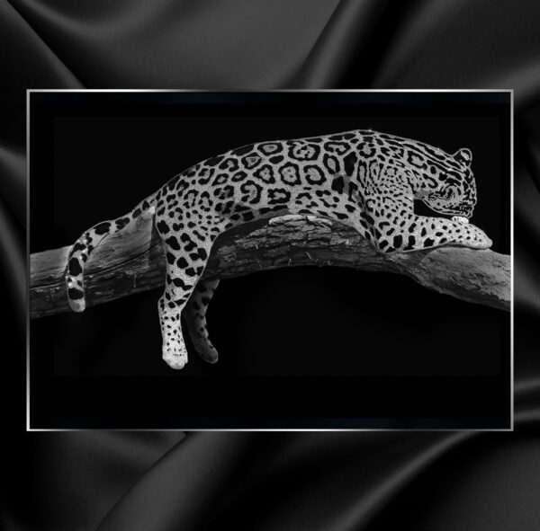Декоративное ювелирное панно Michele Astolfi Leopardo со стразами Swarovski